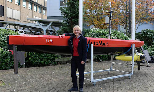 A researcher at the University of East Anglia helped design a sea-going robot to deploy research equipment in remote and inaccessible ocean locations.
